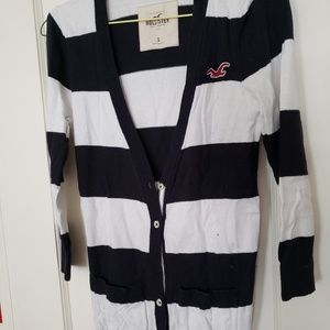 Hollister black and white cardigan